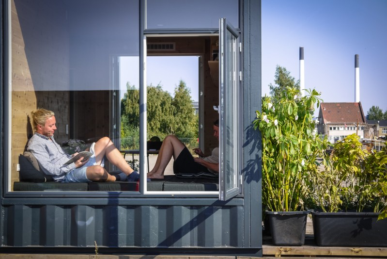 Tiny Shipping Container Student Housing in Copenhagen