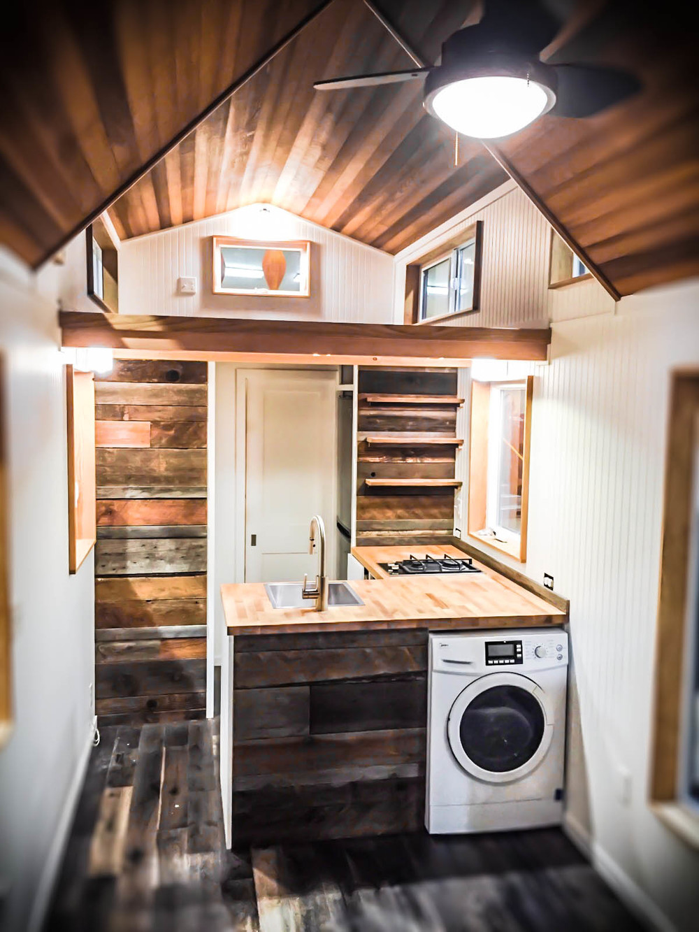 Tiny home kitchen -  Kootenay Inteiror View Of Kitchen By Green Leaf Tiny Homes