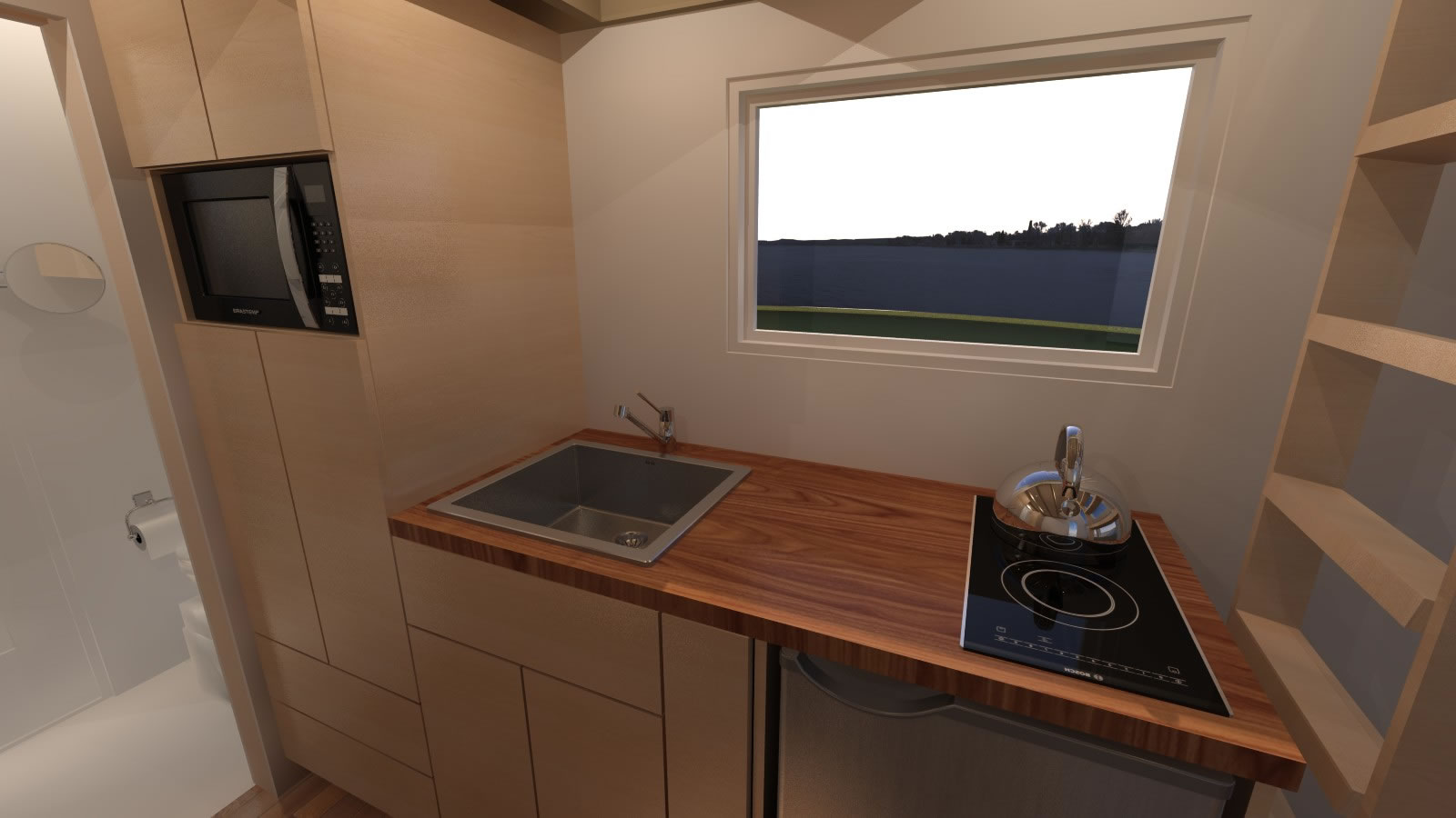 Anchor Bay 16 Tiny House - Kitchen