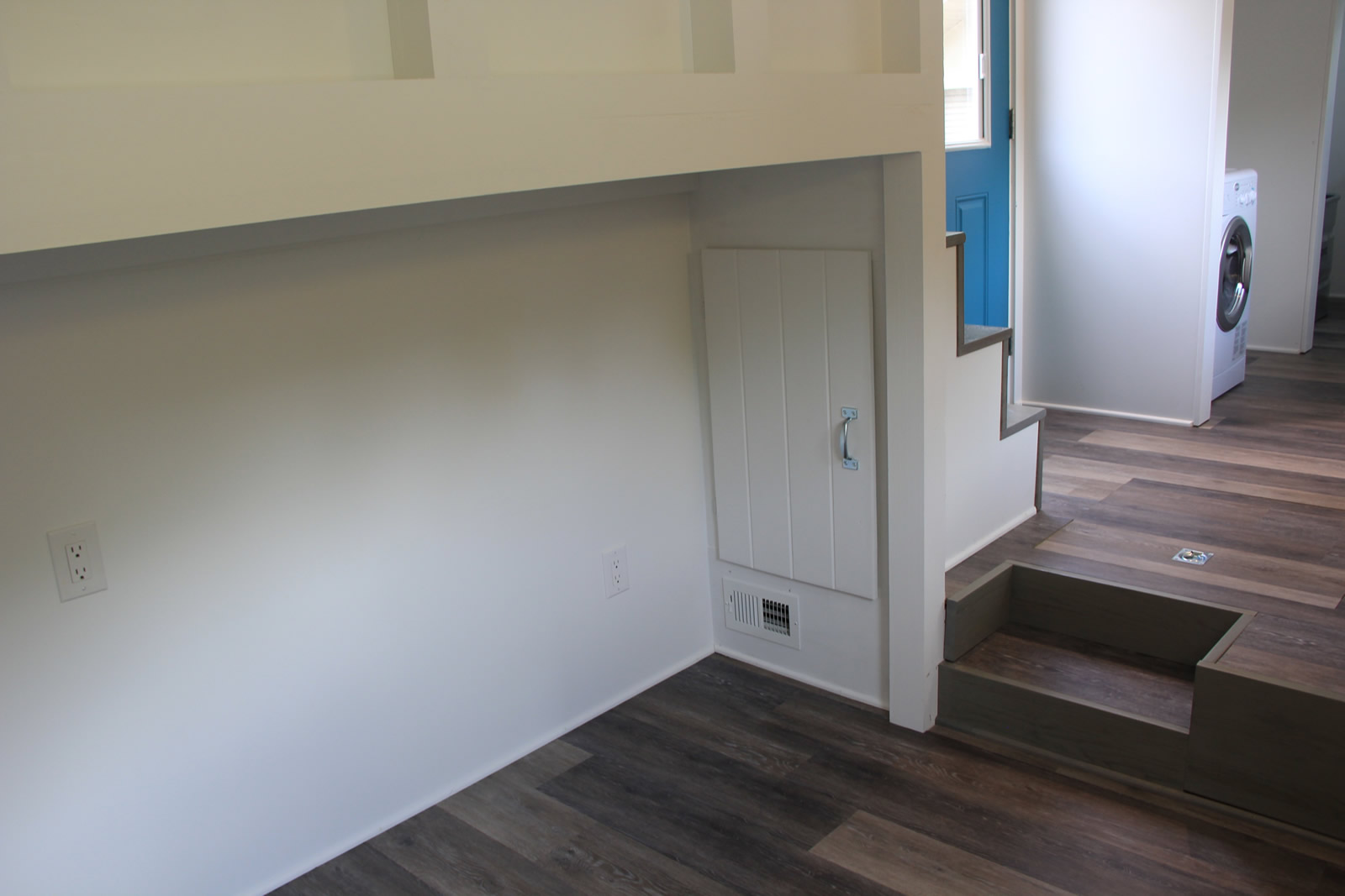 Every Tiny Moment Storage below Stairs by Brevard Tiny House Company