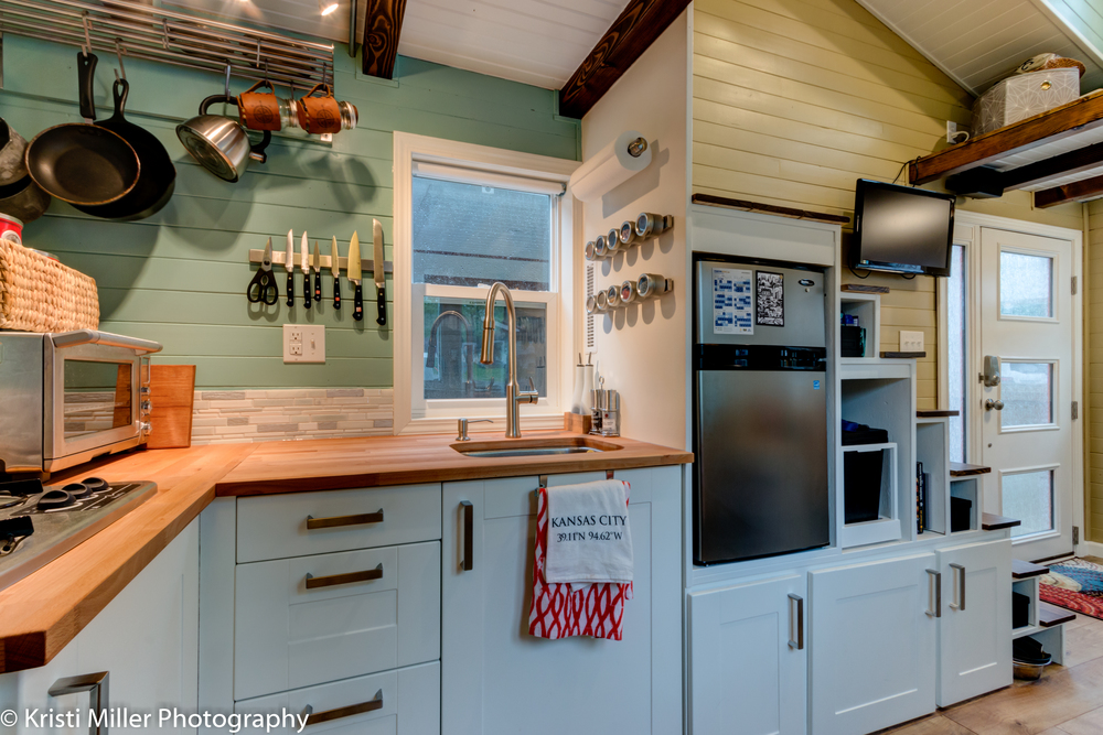 Tiny house kitchen tiny house kitchen handcrafted tiny house contains fullsize kitchen and Kitchen design for tiny house