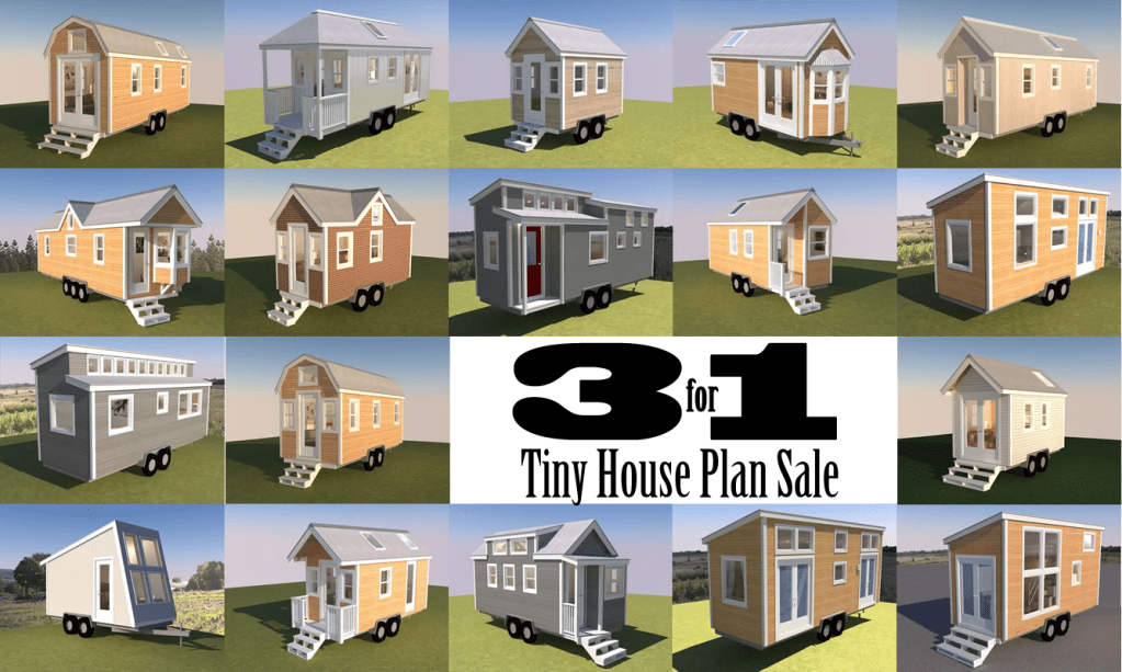 Last Day – 3 FOR 1 Tiny House Plan Sale