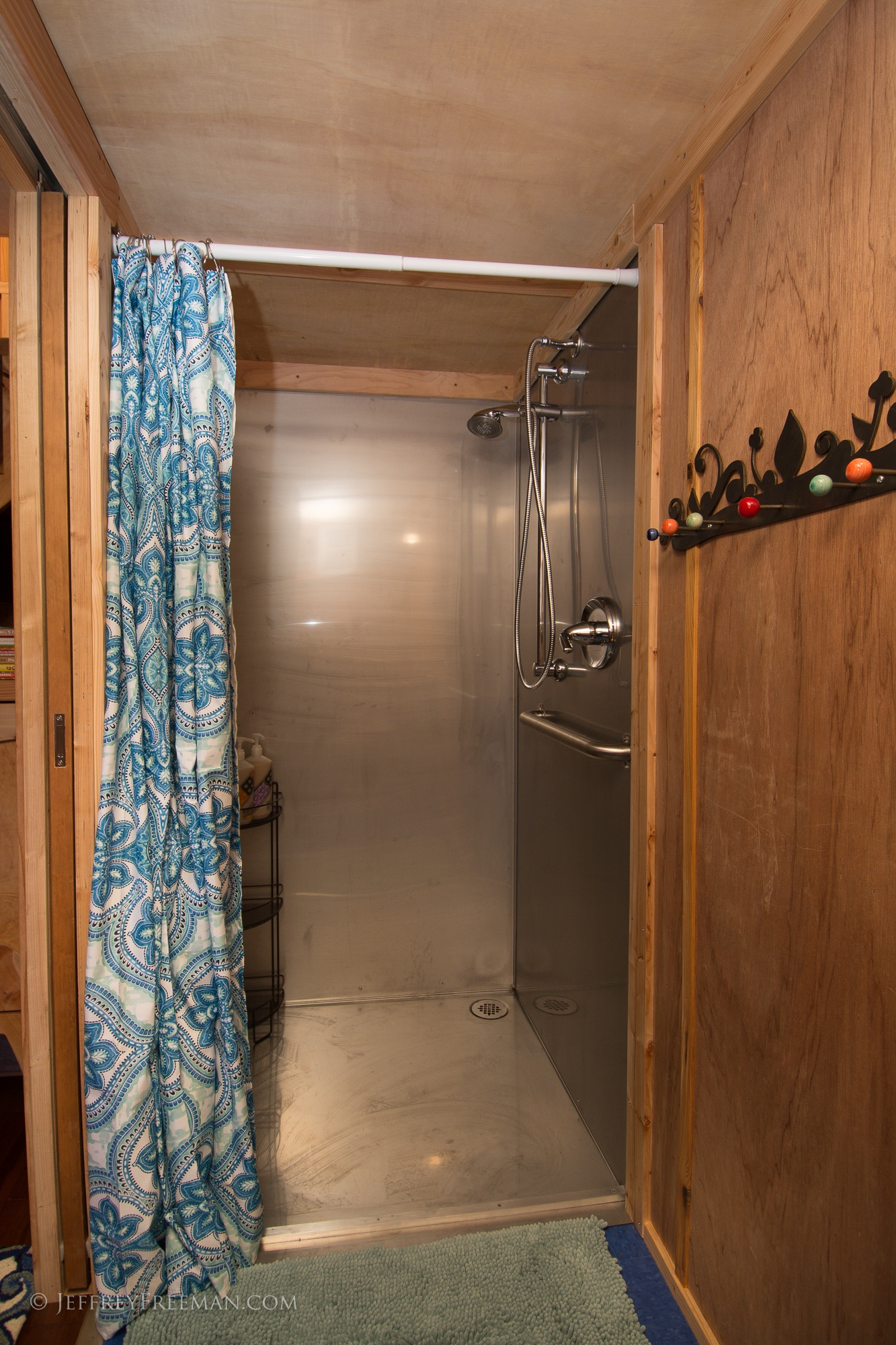 Shower - Pacifica by Zyl Vardos at the Tiny House Hotel